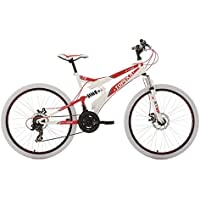 "KS Cycling Topeka VTT tout suspendu Blanc/Rouge 26"""