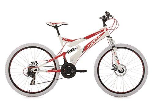 KS Cycling Mountainbike Fully 26\'\' Topeka weiß-rot RH44cm