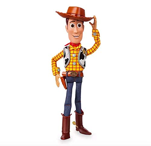 Disney Store 40cm Parlante Woody Peluche Toy Story 3 Originale Bambola Sceriffo Giocattolo Di Andy Parla Action Figure