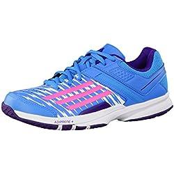 Adidas Counterblast 5 Zapatillas de Balonmano Damas - Azul/rosa/lila, Textil / sintético, 8.0 GB - 42.0 EU