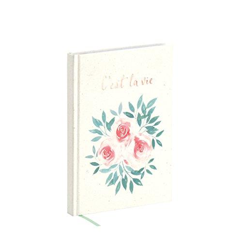"""Rössler Papier Notiz-Buch für Bullet Planning   My Journal Kollektion  """"Cést la vie""""   Tagebuch   verschiedene Ausführungen 192 Seiten Größe A5   punktkarriert   Terra Vanilla"""