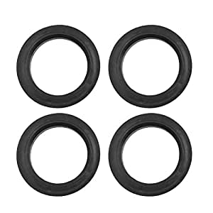 X AUTOHAUX Car Hub Centric Rings Wheel Center Bore 73.1 to 54.1mm 4pcs Black Plastic