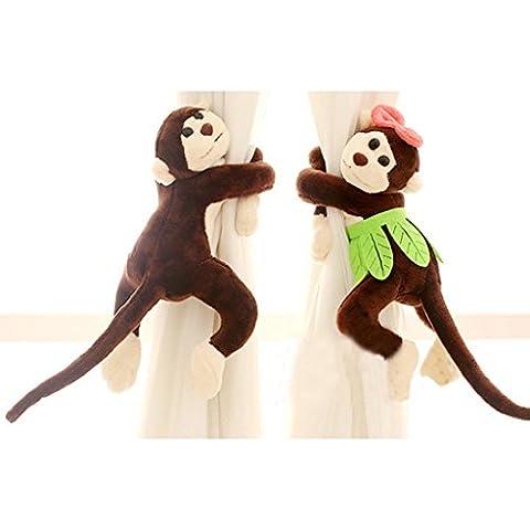1 Paar Affe Curtain Tieback Kinder Zimmer Monkey Vorhang Raffhalter, Braun