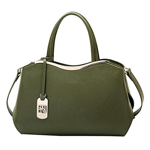 WU Zhi Dame Leather Fashion New Wild Schultertasche Handtasche Messenger Bag Green