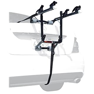 Allen Sports USA Deluxe 2-Bike Trunk Mounted Bicycle Carrier for Automobile - Black