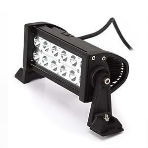 Rupse - 36W 6000K 1800lm LED lampe Barre de Travail étanche pour OffRoad ATV Jeep Polaris Camion Tracteur Chariot à fourche Bateau / éclairage intérieur et extérieur de jardin parc etc. - 12-24 V