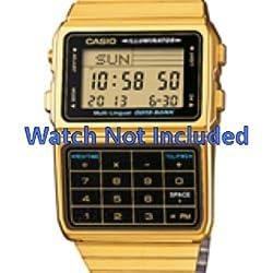 Casio correa de reloj DBC-611GE-1EF / DBC-611GE-1 Acero Dorado 22mm(Sólo reloj correa - RELOJ NO INCLUIDO!)