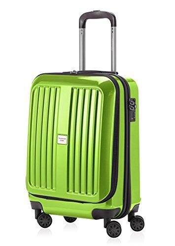 HAUPTSTADTKOFFER - X-Berg - Handgepäck Hartschalenkoffer Koffer Trolley, 55 cm, 42 Liter, TSA, Apfelgrün