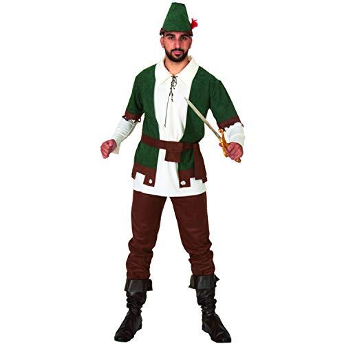 Mortino Herren Kostüm Waldmann Ask Robin Hood Jäger Fasching Karneval (XL)