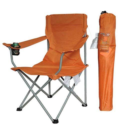 WRZHRXXH Tragbar Falten Stuhl Hoch Zurück Im Freien Stuhl Fischen Stuhl Im Freien Freizeit Stuhl Park Picknick Camping-Orange