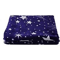 Moliies Helle Sterne weiche warme Plüsch Flanell Schlaf Couch Decke Bettwäsche für Schlafsofa
