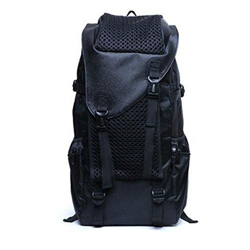 GOUQIN Zaino Outdoor Classico Moda Il Nuovo Zaini Oxford Tessuto Schoolbags Massa Outdoor Arrampicata Borsa Da Viaggio, Blu Nero