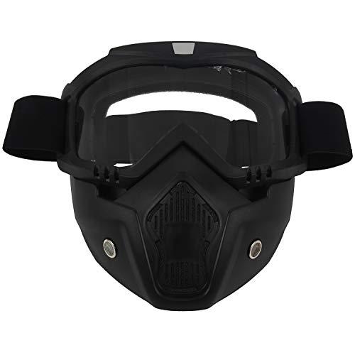 RETYLY Racing Abnehmbarer modularer Helm von Motorrad schuetzende Gesichtsmaske Schild Schutzbrille transparent