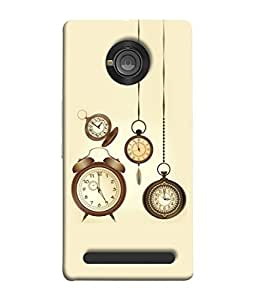 YU Yuphoria, YU Yuphoria YU5010 Back Cover Set Of Vintage Clocks Raster Copy Design From FUSON