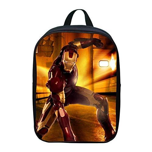 Kostüm Kleinkind Ironman - TYYM Backpack Kinder Schulrucksack 3D Iron Man Gedruckt The Avengers Kindergarten Bookbags Für Jungen 12 Zoll E-30 * 22 * 8cm