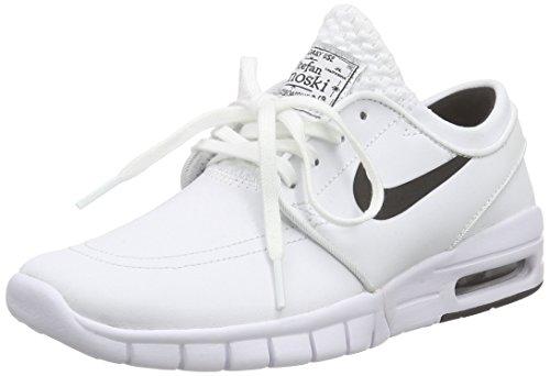 Nike Stefan Janoski Max L, Chaussures de Planche à Roulettes Homme Blanc / noir (Blanc / Black)
