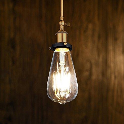 Edison Vintage LED-Lampe Oak Leaf Glühbirne, dimmbar Ersetzt 25W warmweiß – 2700K 330 Lumen [Energieklasse A+] - 2