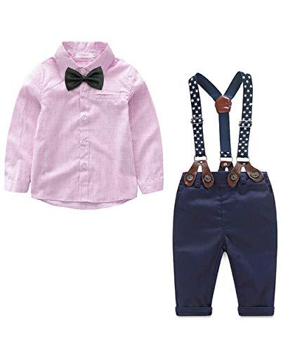 Niños Conjuntos de Dos Piezas Boda de Fiesta Camisa de Manga Larga + Pantalones Traje Niño Bebé Ropa de Primavera y Verano Ropa de Primavera Ropa Pascua
