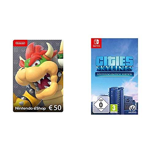 Nintendo eShop Card | 50 EUR Guthaben | Download Code & Cities: Skylines (Switch)
