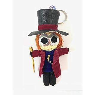 Willy-Wonka-Schlüsselanhänger mit Voodoo-Fadenpuppe
