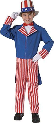 Rubie 's Kostüm Deluxe Uncle Sam Kinder-Kostüm, Mittel, - Uncle Sam Kostüm Kind