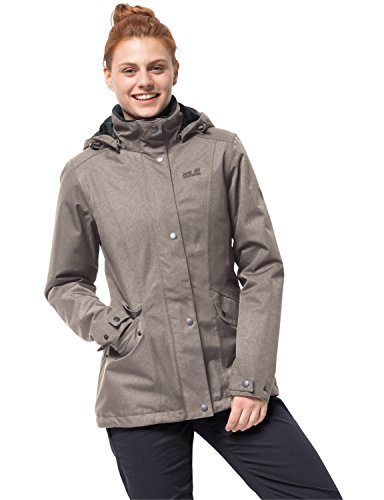 Jack Wolfskin Damen Park Avenue Jacket Winterjacke Wasserdicht Winddicht Atmungsaktiv Wetterschutzjacke, Moon Rock, XXL