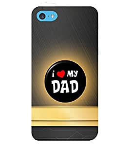 Fiobs Designer Back Case Cover for Apple iPhone 5c (Home Mom Love Find Emotions )