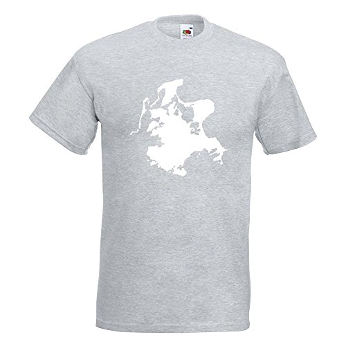 KIWISTAR - Rügen - Deutschland - Insel T-Shirt in 15 verschiedenen Farben - Herren Funshirt bedruckt Design Sprüche Spruch Motive Oberteil Baumwolle Print Größe S M L XL XXL Graumeliert