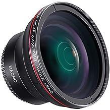 Neewer 55mm 0.43x Obiettivo Grandangolare Professionale HD con Macro Porzione per D3400, D5600, Sony A33, A55, A57, A58, A65, A68, A77, A77II, A99, A99II, A390, A58, A100, A900, A850, A700, Fotocamere DSLR A500