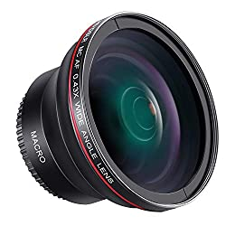 Neewer 52mm 0,43x HD Weitwinkel-Objektiv mit Makro Teil Nahlinsen kein Verzug Digital High Definition