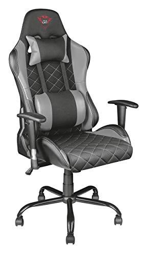 Trust GXT 707R Resto Gaming-Stuhl (Ergonomisch mit Höhenverstellbare Armlehnen) grau