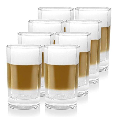4x Jura Latte Macchiato Gläser klein 2er für Ihren Latte Kaffee
