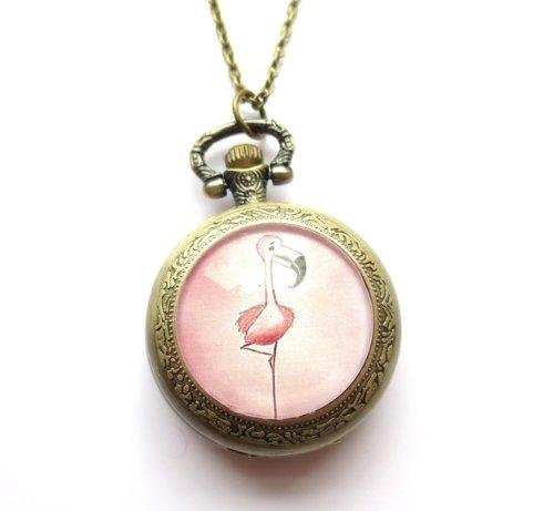 \' Flamingo \' Kettenuhr Uhrenkette bronzefarben Safari