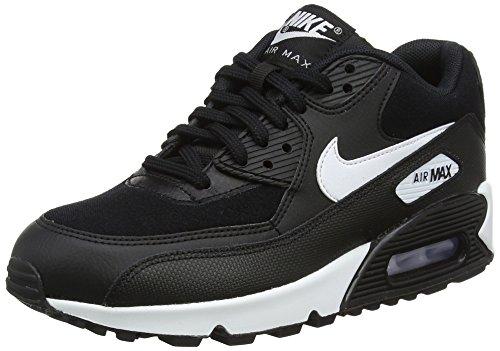 Nike Air Max 90, Chaussures de Gymnastique Femme, Noir (BlackWhite 047), 39 EU