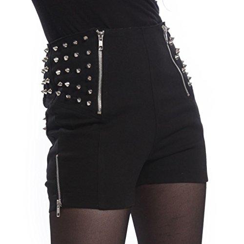 poizen-industries-heartless-devina-shorts-ladies-black-spike-zip-goth-emo-punk
