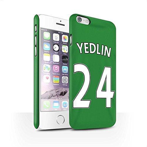 Officiel Sunderland AFC Coque / Clipser Matte Etui pour Apple iPhone 6S / Pack 24pcs Design / SAFC Maillot Extérieur 15/16 Collection Yedlin