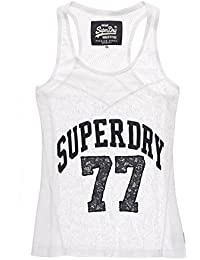 Superdry Damen T-Shirt Athletic Lace Tank