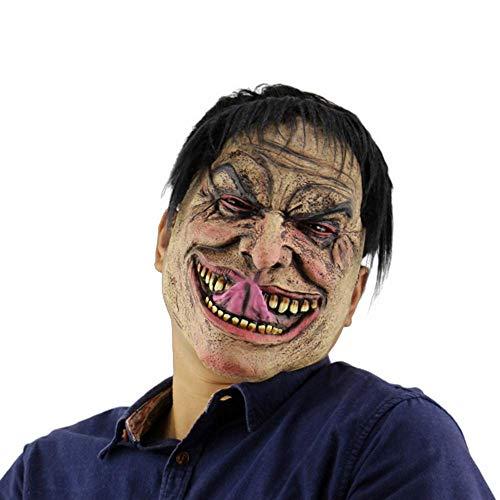Einfach Männliche Piraten Kostüm - YEARYOWN Halloween Maske Lange Zunge elenden