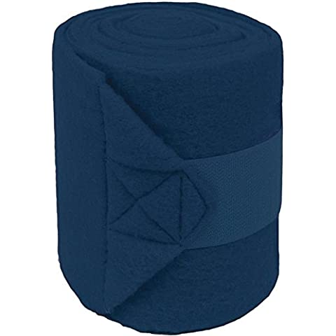 PARTRADE 710003/8440-F 056049 9' Pol0 Fleece Navy Bandages for Horses by Partrade