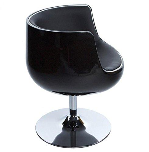 Kokoon AC00130BLBL Chaise Design Harlow Noir/Noir en PVC