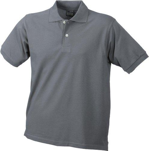 Kurzärmeliges Herren-Poloshirt mit hohem Tragekomfort Hellgrau