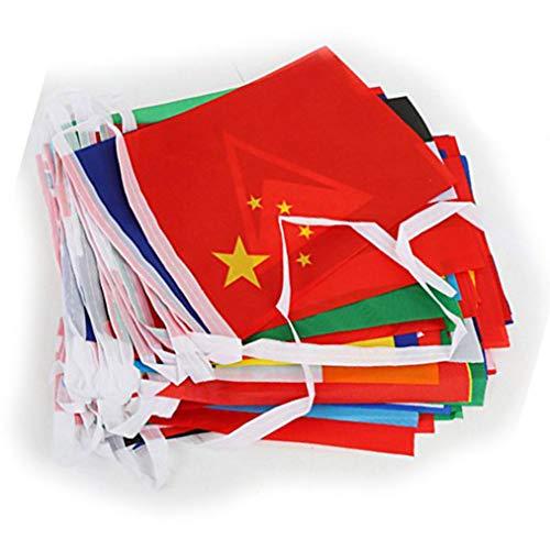 Lystaii 100 Länder Internationale Flaggen Bunting Banner für Partydekorationen, Olympiade, Eröffnungsfeier, Bar, Sportvereine, Schulveranstaltungen, Kulturstudien 82 Fuß (Der Welt Flaggen)