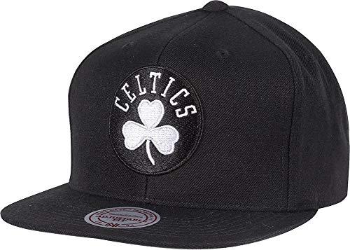 Mitchell & Ness Boston Celtics 18155 Wool Solid Black White Snapback Cap Kappe Basecap