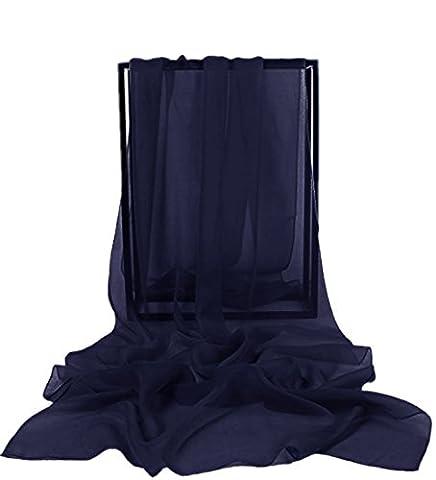 Dresstells, Femme pashmina châle écharpe étole en mousseline polyester