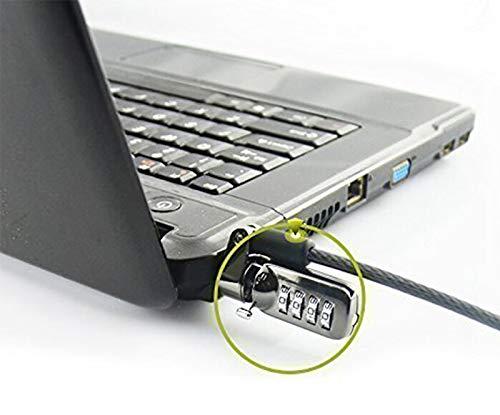 RUBAN 6,2Füße Universal Notebook Laptop Zahlenschloss Sicherheit Kabel, Diebstahl ABSCHRECKENDE, 4Digit Passwort Schutz, für Desktop-Computer, Schwarz -