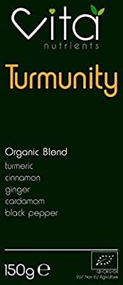Turmunity Premium Organic Superfood Powder Blend | Contains Turmeric (Curcumin) and Black Pepper (Piperine) | Vegan | Gluten Free | Supports Immunity | Upto 60 Servings | Produced in The UK