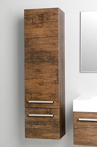 Quentis Hochschrank Serie Zeno, eine Tür und eine Schublade, Ausführung Holzdekor antik