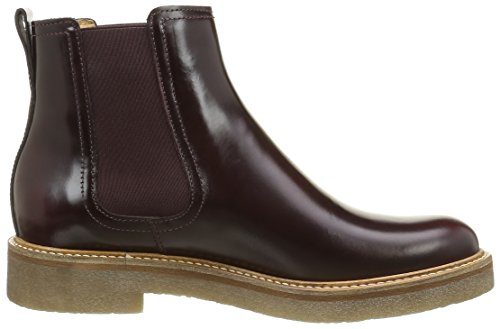 Kickers Oxfordchic, Bottines Chelsea Femme Rouge (bordeaux)