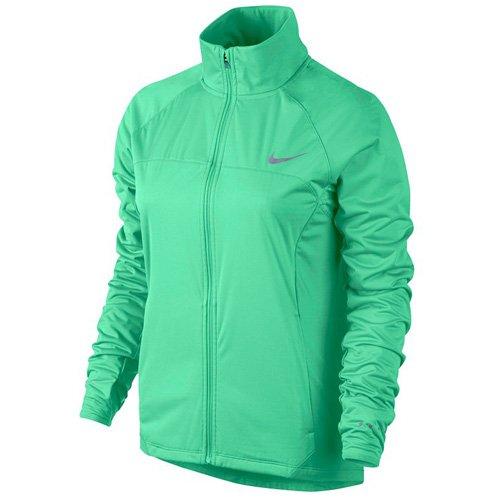 Nike Damen Shield FZ 2.0 Jacket Regenjacke, Grünes Glühen/Reflektives Silber, S