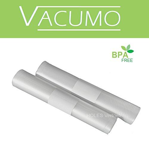 5 x Vakuumrolle 30 x 600 cm Vakuumschlauch Vakuumbeutel goffriert für alle Vakuumierer LAVA SOLIS GASTROBACK GENIUS CASO ALLPAX und andere ♦ Grundpreis 1,00 €/m